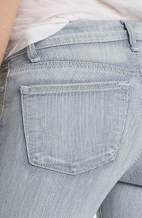 Alternate Image 3  - J Brand Stripe Zip Ankle Skinny Jeans (Tracks)