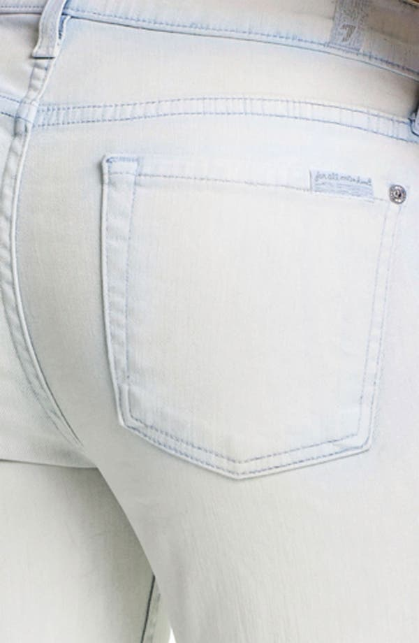 Alternate Image 3  - 7 For All Mankind® 'The Slim Cigarette' Coated Stretch Jeans (White Washed Denim)