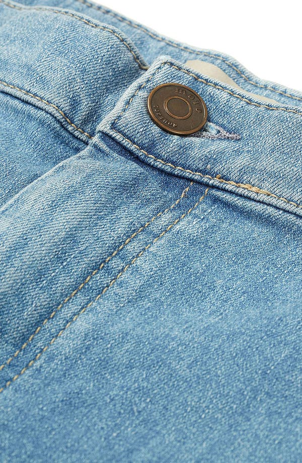 Alternate Image 3  - Topshop Moto 'Joni' High Waist Skinny Jeans (Mid Stone) (Short)