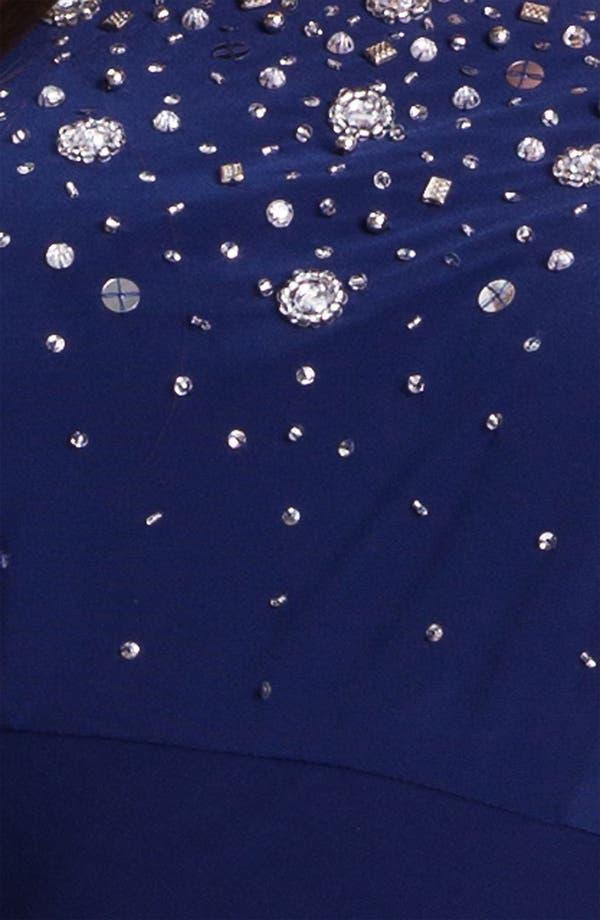 Alternate Image 3  - Alex Evenings Embellished Faux Wrap Jersey Dress