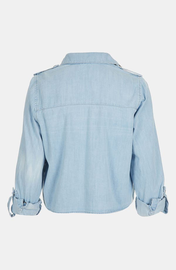 Alternate Image 2  - Topshop Crop Chambray Shirt