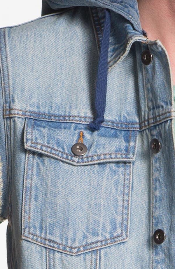 Alternate Image 3  - Topman Hooded Denim Vest
