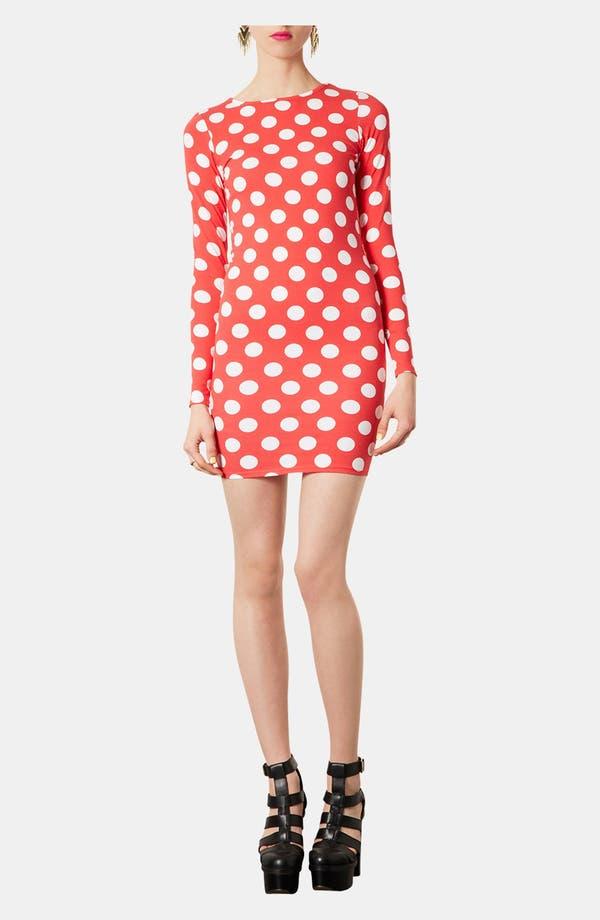 Alternate Image 2  - Topshop Polka Dot Body-Con Dress