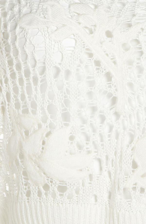 Alternate Image 4  - Leith 'Grunge' Open Crochet Pullover