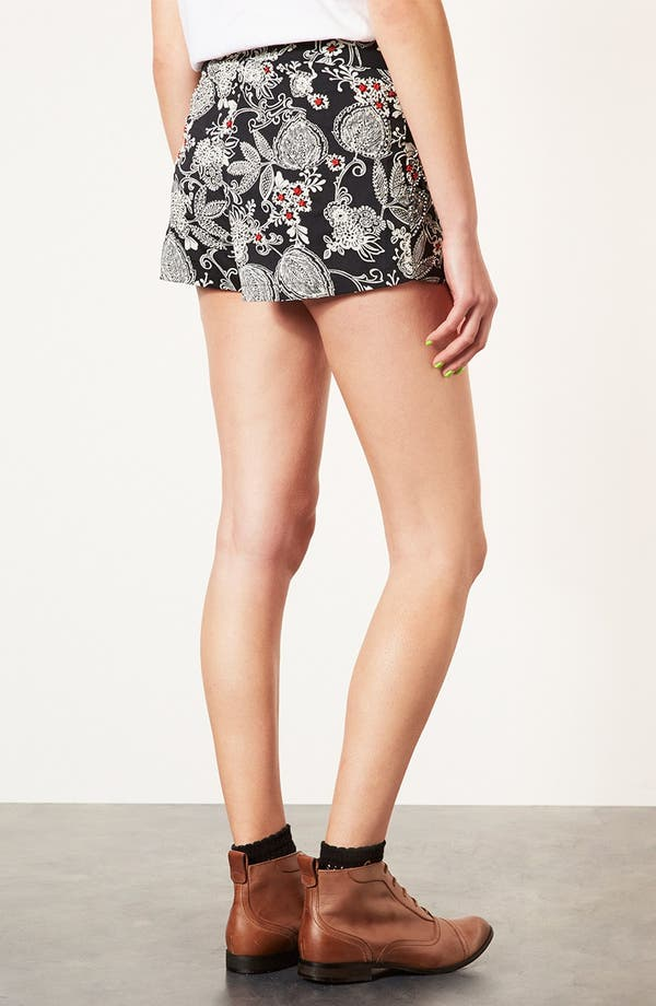 Alternate Image 2  - Topshop Beaded Print Shorts