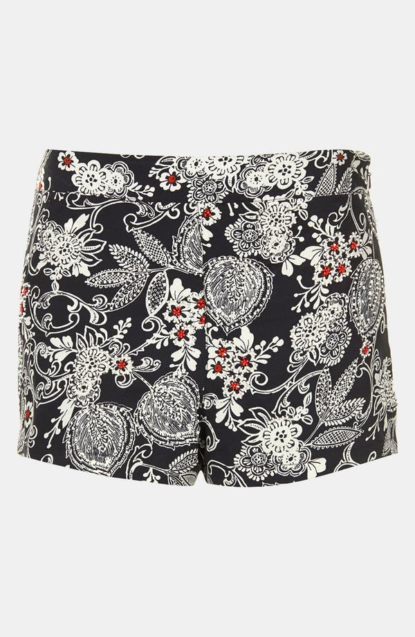 Alternate Image 3  - Topshop Beaded Print Shorts