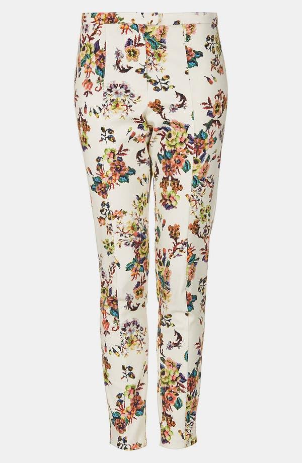 Alternate Image 3  - Topshop Pixelated Floral High Waist Pants