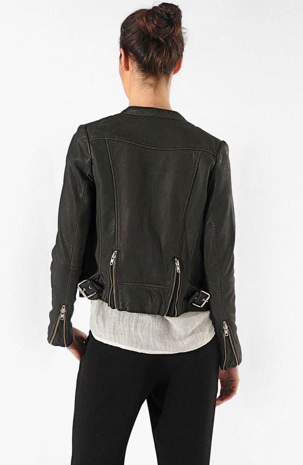 Alternate Image 2  - maje 'Robbie' Leather Jacket
