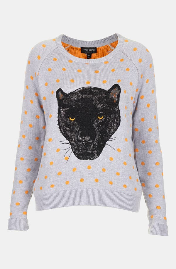 Alternate Image 3  - Topshop Panther Motif Sweater