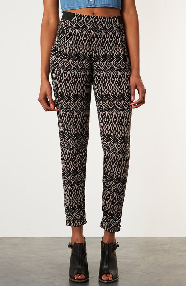 Alternate Image 1 Selected - Topshop Aztec Print Tapered Pants