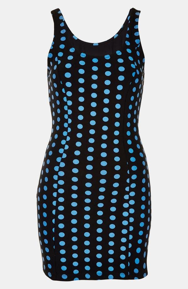 Main Image - Topshop Polka Dot Body-Con Dress (Petite)