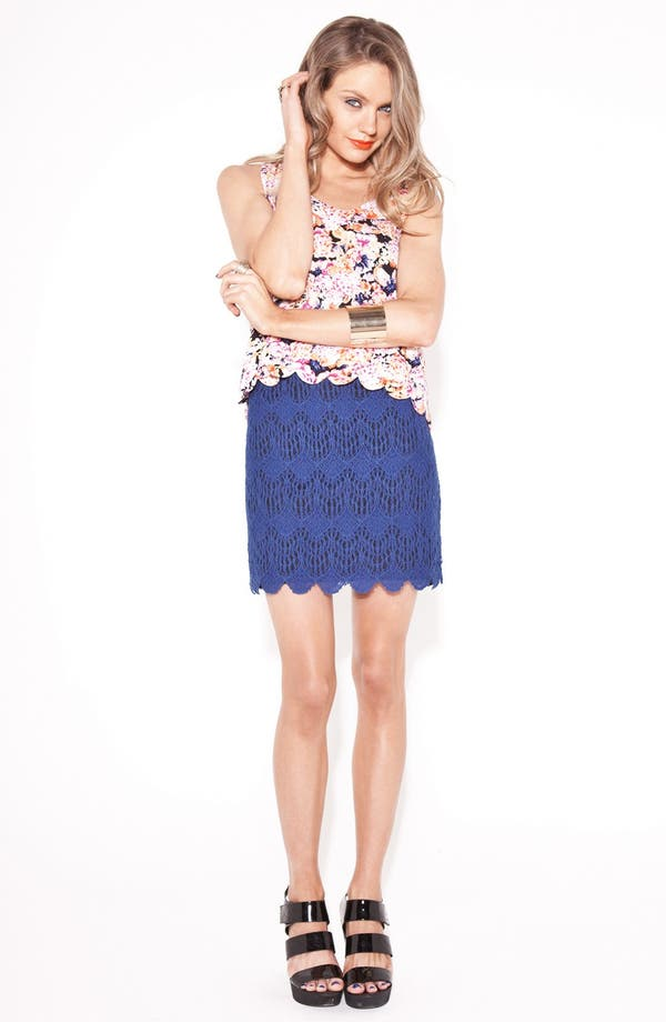 Main Image - MINKPINK 'Moscato' Lace Skirt