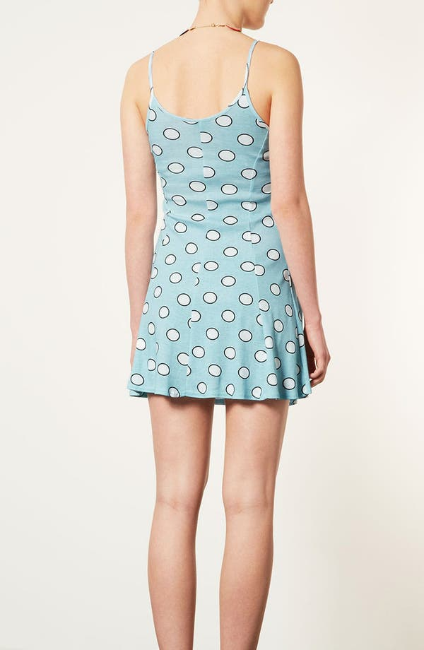 Alternate Image 2  - Topshop 'Egg Spot' Strappy Flippy Dress