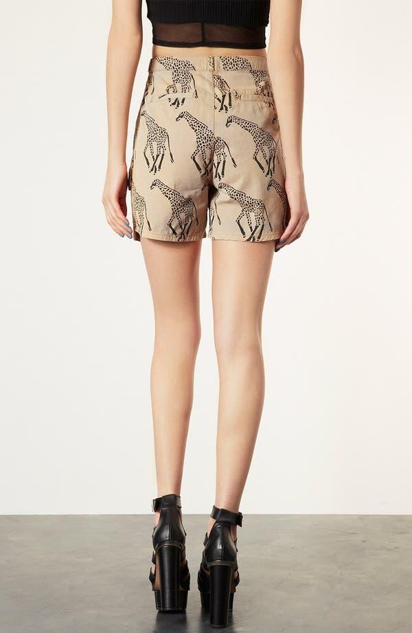 Alternate Image 2  - Topshop Giraffe Print Cargo Shorts