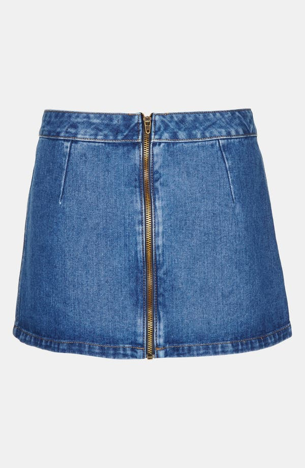 Alternate Image 2  - Topshop Moto 'Pelmet' Denim Skirt (Petite)