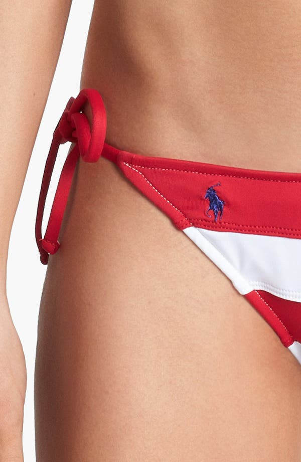 Alternate Image 5  - Ralph Lauren Stripe Side Tie Bikini Bottoms