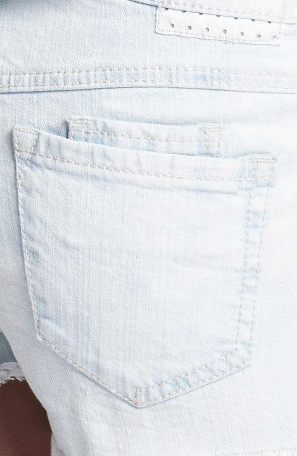 Alternate Image 3  - Jolt High Waist Denim Shorts (Juniors)
