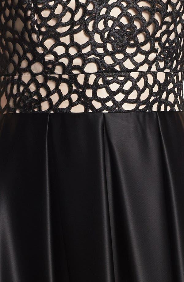 Alternate Image 3  - ABS by Allen Schwartz Embroidered Bodice & Satin Skirt Gown