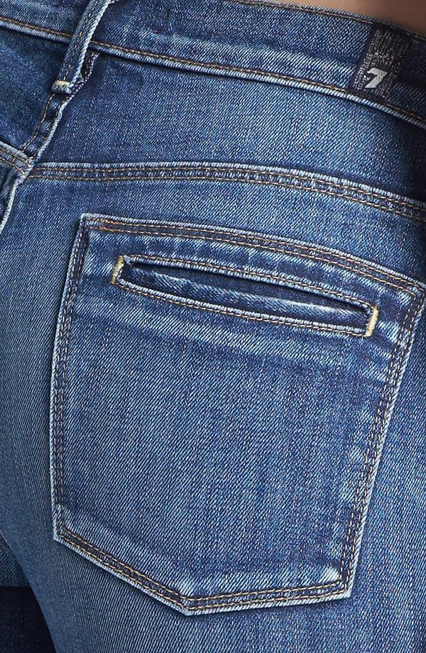 Alternate Image 3  - 7 For All Mankind® 'Clean Biancha' Flare Leg Jeans (Authentic Bright Blue)