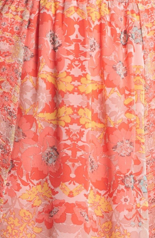 Alternate Image 3  - Ella Moss Floral Print Silk Skirt