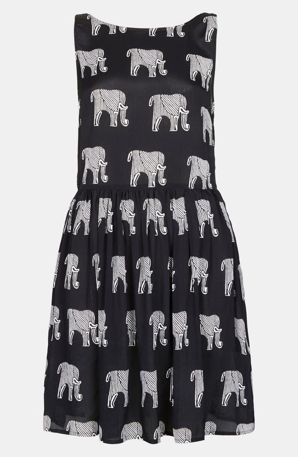 Alternate Image 3  - Topshop Ladder Back Elephant Print Dress
