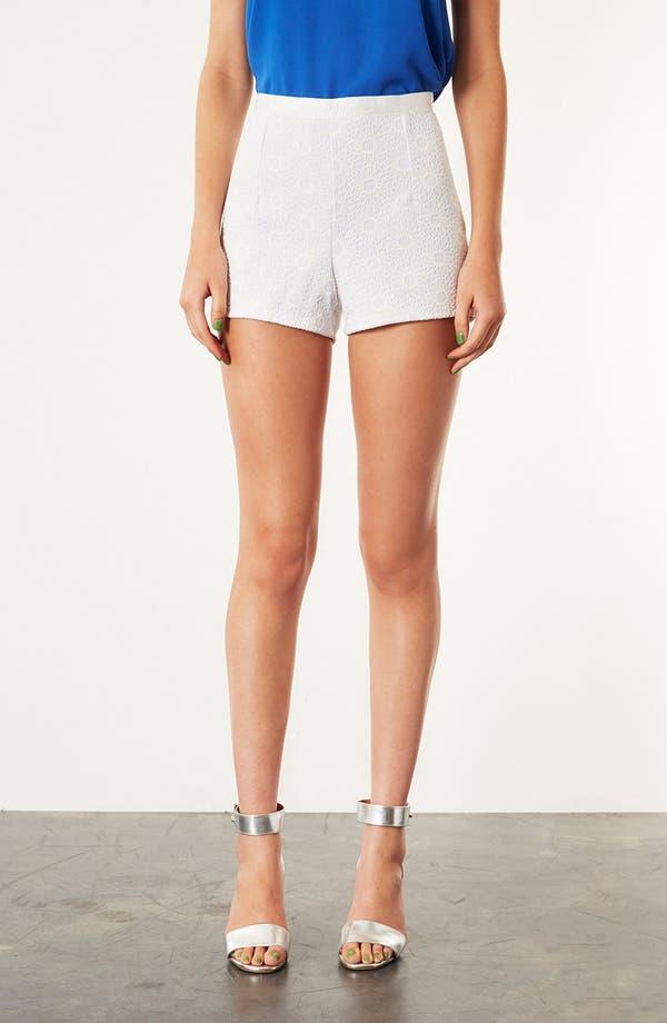 Main Image - Topshop 'Lola' Lace Shorts