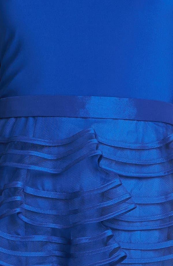 Alternate Image 3  - Kathy Hilton Tiered Skirt Mixed Media Dress