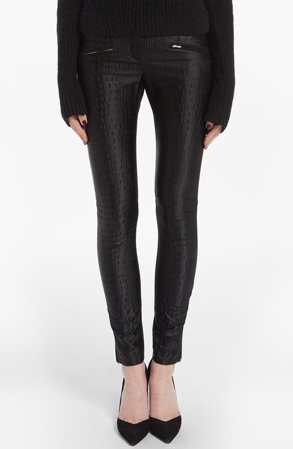 Main Image - maje 'Drop' Croc Embossed Pants