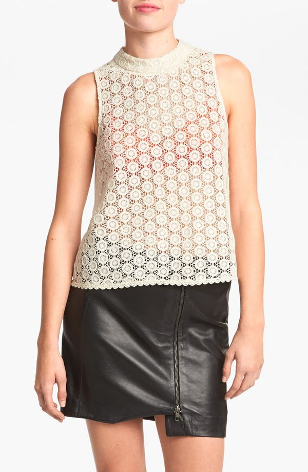 Main Image - ASTR Mock Neck Lace Top