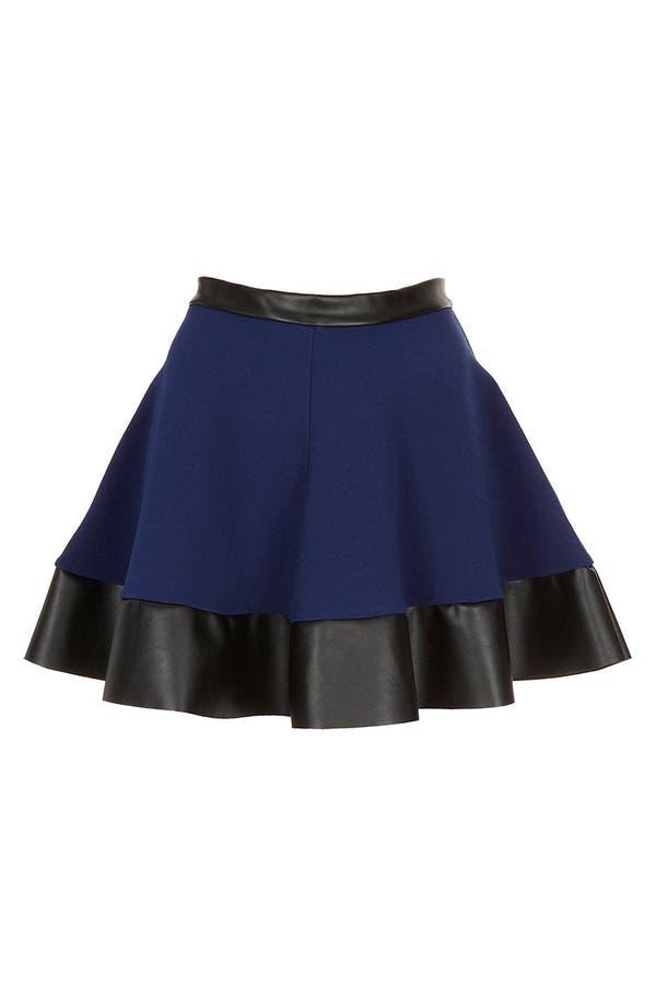 Alternate Image 3  - Topshop Contrast Hem Skater Skirt