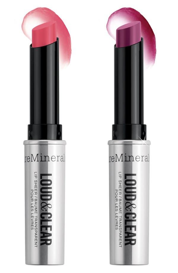 Alternate Image 1 Selected - bareMinerals® 'Loud & Clear' Lip Sheer Duo ($30 Value)