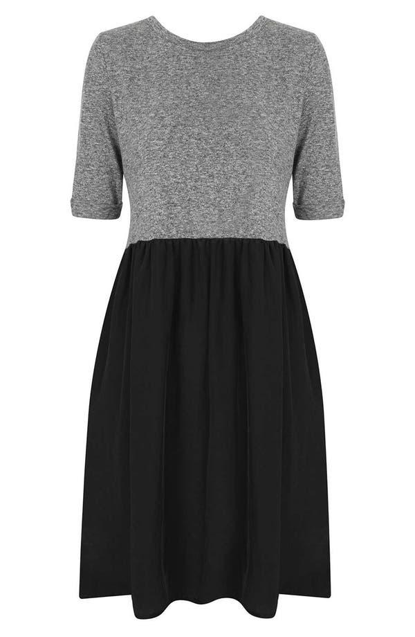 Alternate Image 3  - Topshop Colorblock Smock Dress