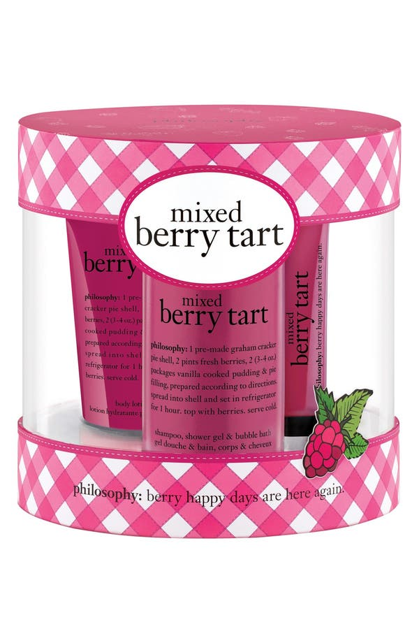 Main Image - philosophy 'mixed berry tart' kit (Limited Edition)