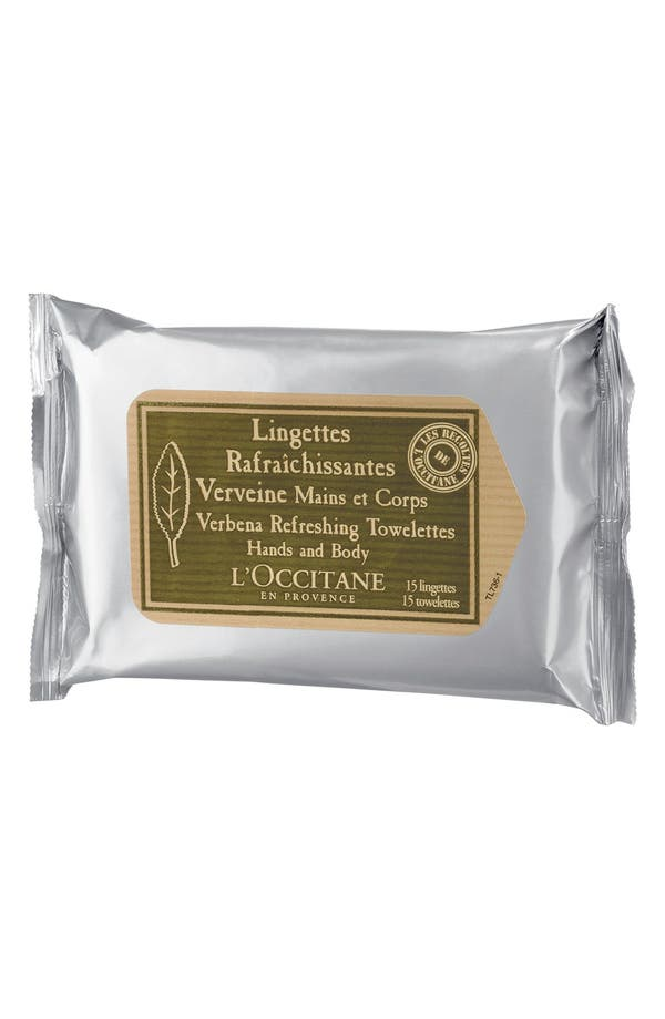 Alternate Image 1 Selected - L'Occitane Verbena Refreshing Towelettes