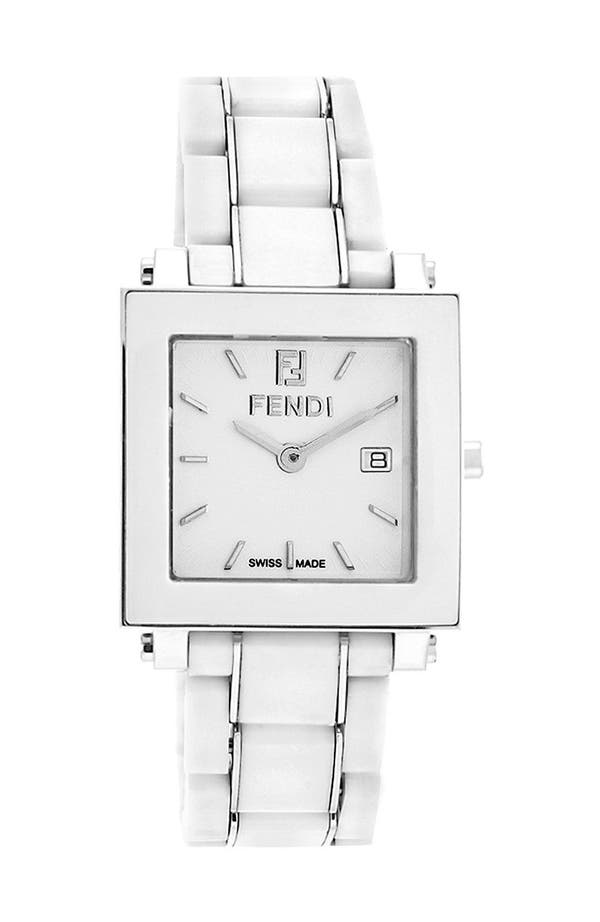 Main Image - Fendi Large Square Ceramic Bracelet Watch, 30mm
