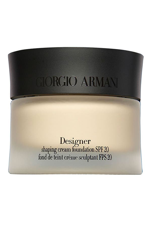 Main Image - Giorgio Armani 'Designer' Shaping Cream Foundation SPF 20