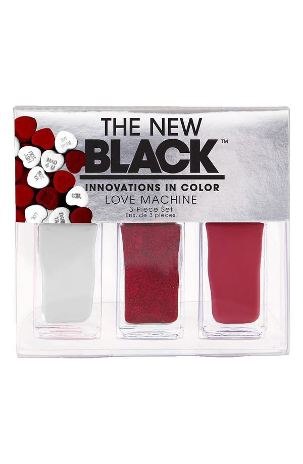 Alternate Image 1 Selected - THE NEW BLACK 'I Want Candy - Love Machine' Nail Polish 3-Piece Set