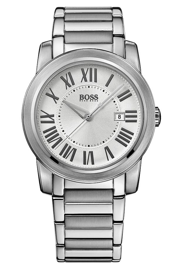Main Image - BOSS HUGO BOSS Roman Numeral Bracelet Watch, 40mm