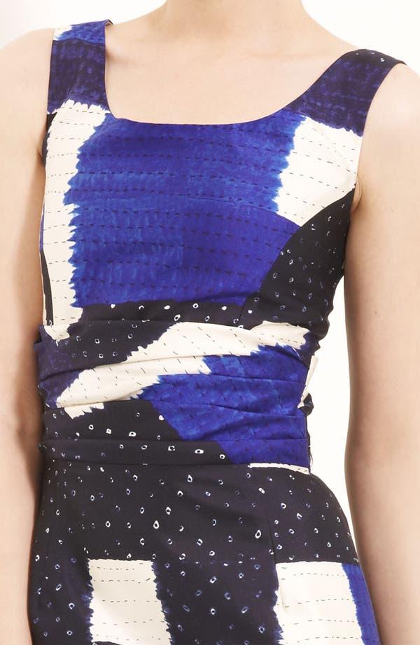 Alternate Image 3  - Oscar de la Renta Bandhani Silk & Cotton Dress