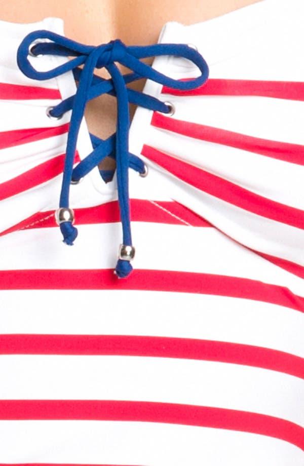 Alternate Image 3  - Ralph Lauren Blue Label Stripe Strapless Tankini Top