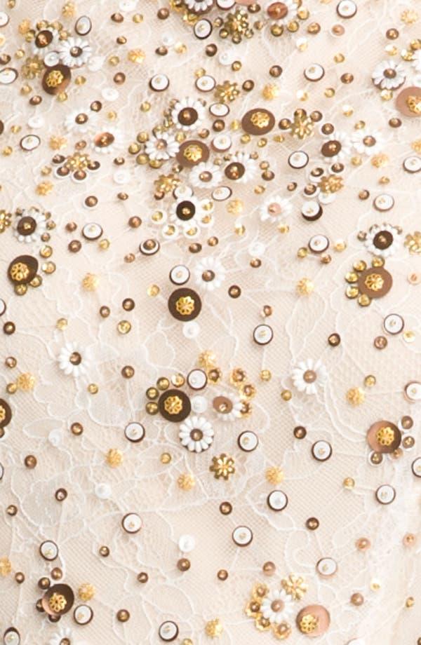 Alternate Image 3  - Kathy Hilton Sheer Sleeve Sequin Cocktail Dress