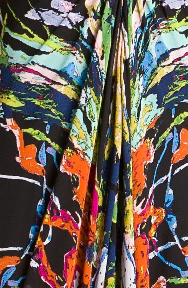 Alternate Image 3  - Nicole Miller Paint Splatter Silk Chiffon Gown