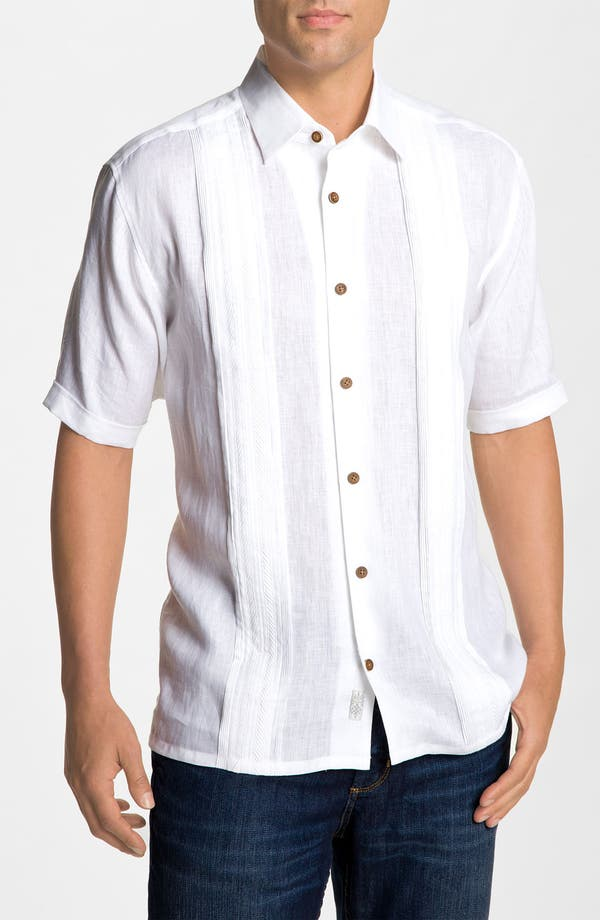 Main Image - Tommy Bahama 'White in Line' Linen Sport Shirt