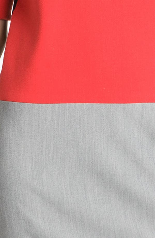 Alternate Image 3  - Eliza J Zip Detail Colorblock Shift Dress