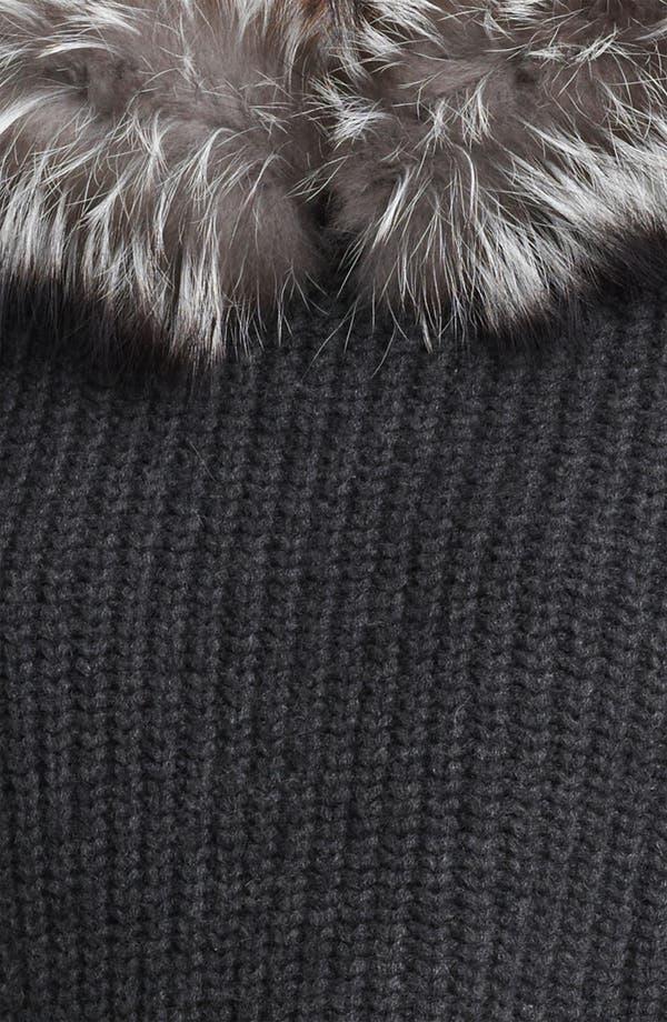Alternate Image 3  - Michael Kors Genuine Fox Fur Trim Hooded Sweater
