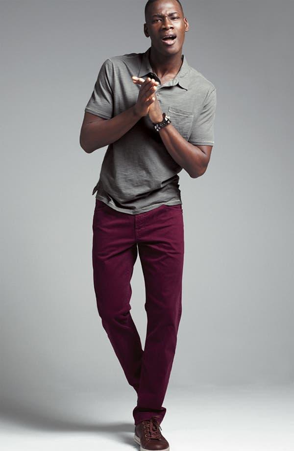 Alternate Image 2  - John Varvatos Star USA Trim Fit Slubbed Cotton Polo