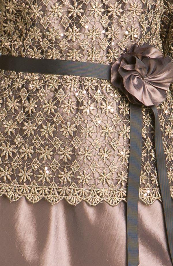 Alternate Image 3  - Alex Evenings Two-Piece Lace Overlay Taffeta Dress