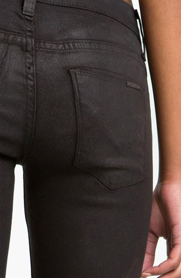 Alternate Image 3  - Hudson Jeans 'Krista' Super Skinny Jeans (Black Wax)