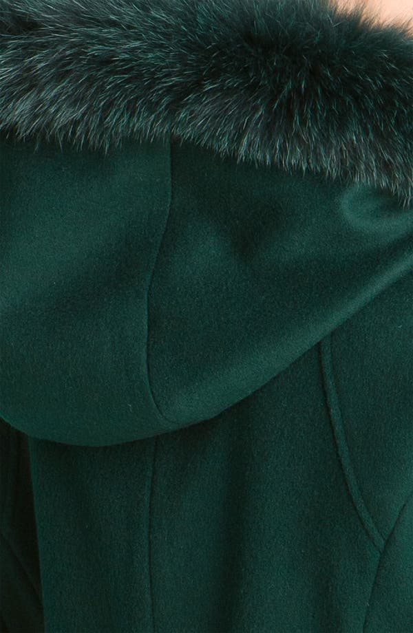Alternate Image 3  - Sachi Genuine Fox Trim Hooded Coat