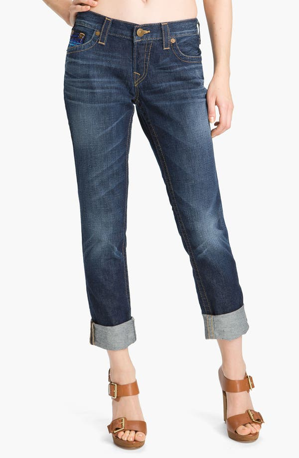 Main Image - True Religion Brand Jeans 'Brianna' Boyfriend Jeans (Grid Iron)